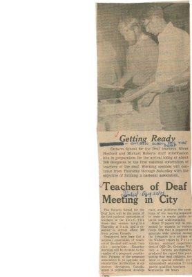 Getting ready: Teachers of deaf meeting in city