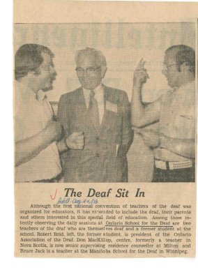 The deaf sit in
