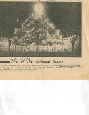 First of the Christmas Season