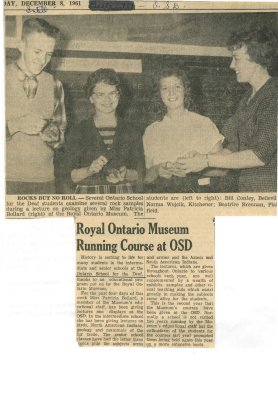 Royal Ontario Museum running course at OSD