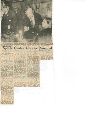 Sports centre honors principal