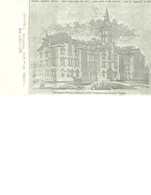 Sir James Whitney School in 1875. First principal was Dr. Palmer.