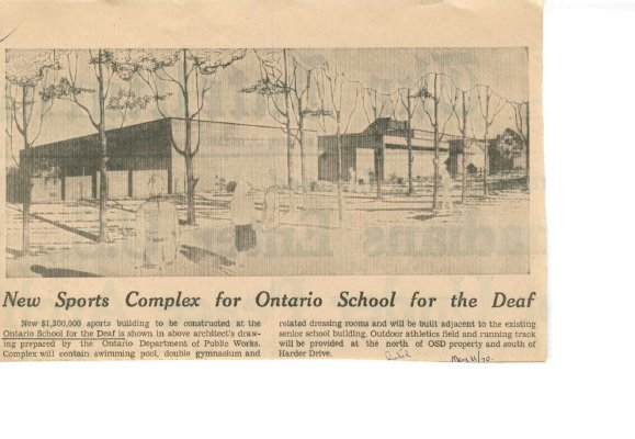 New sports complex for Ontario School for the Deaf