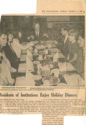 Residents of Institutions enjoy holiday dinners
