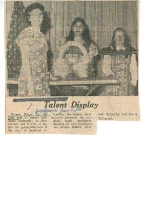 Talent Display