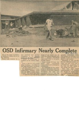 OSD infirmary nearly complete