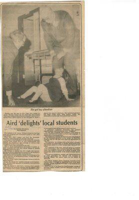 "Aird ""delights"" local students"