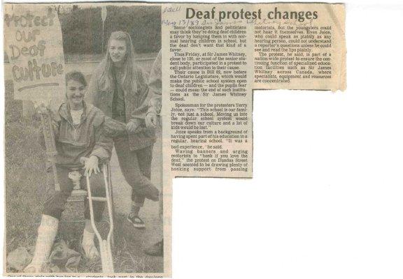 Deaf protest changes