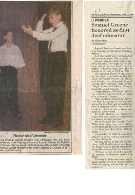 Honor deaf pioneer: Samuel Greene honored as first deaf educator