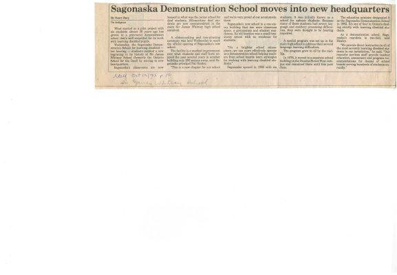 Sagonaska Demonstration School moves into new headquarters