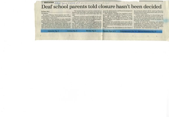 Deaf school parents told closure hasn't been decided
