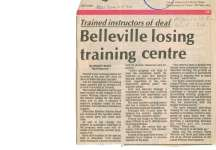 Belleville losing training centre