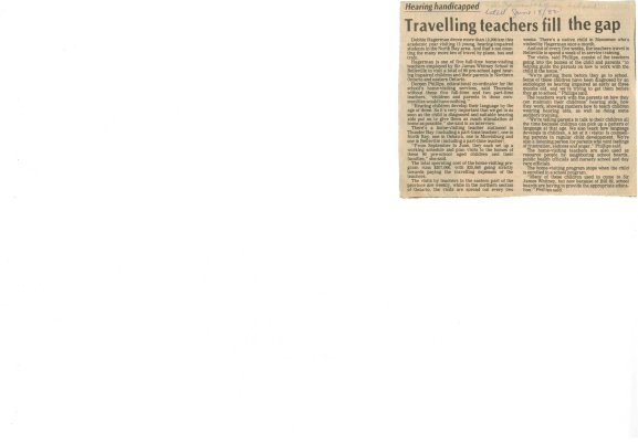 Travelling teachers fill the gap