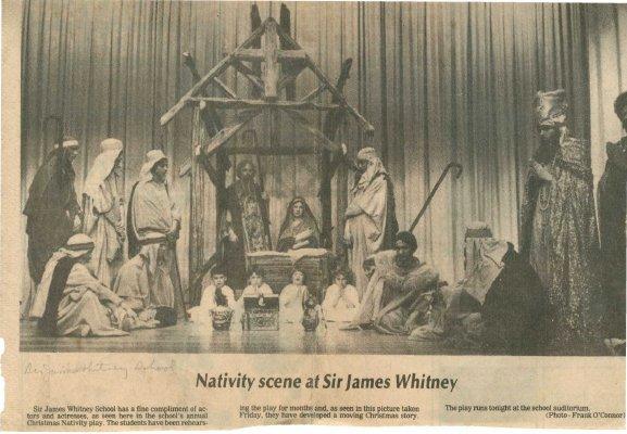 Nativity scene at Sir James Whitney