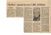 """Mother"" parent to over 1,000 children"