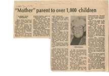 """Mother"" parent to over 1,000 children"