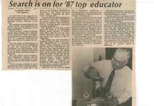 Search is on for '87 top educator