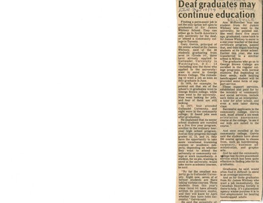 Deaf graduates may continue education