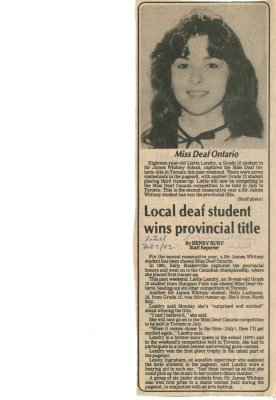 Local deaf student wins provincial title