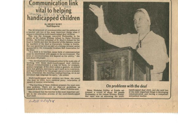 Communication link vital to helping handicapped children
