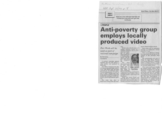 Anti Poverty Group Employs Locally Produced Video