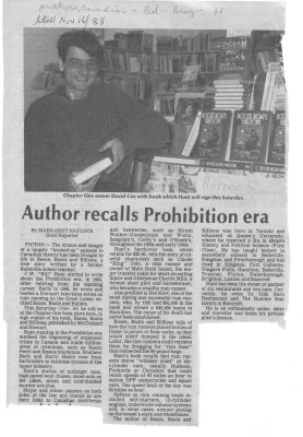 Author Recalls Prohibition Era