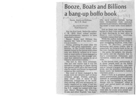 Booze Boats and Billions a Bang up Boffo Book