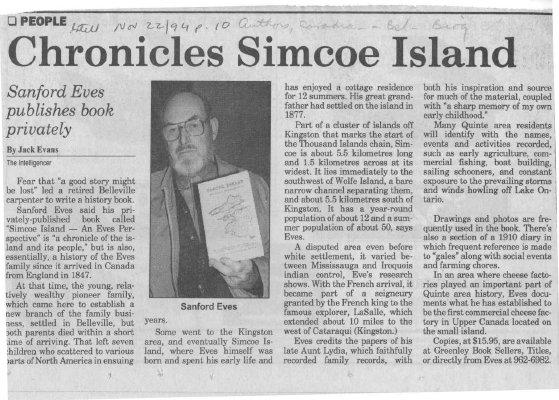 Chronicles of Simcoe Island