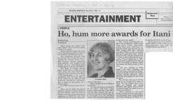 Ho Hum More Awards for Itani