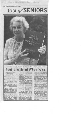 Poet Joins List of Whos Who