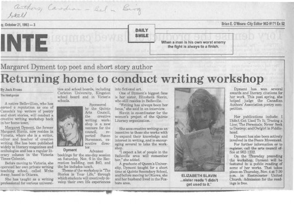 Returning Home to Conduct Writing Workshop