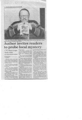 Author invites readers to probe local mystery