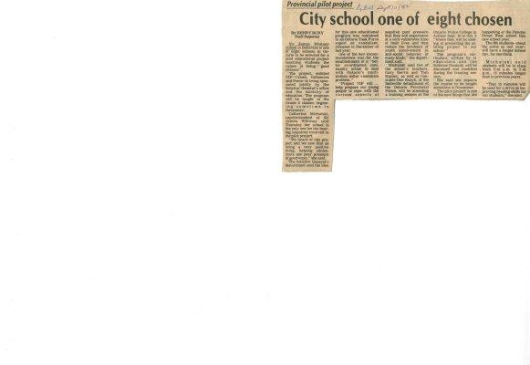 City school one of eight chosen
