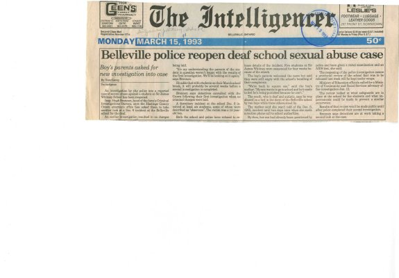 Belleville police reopen deaf school sexual abuse case