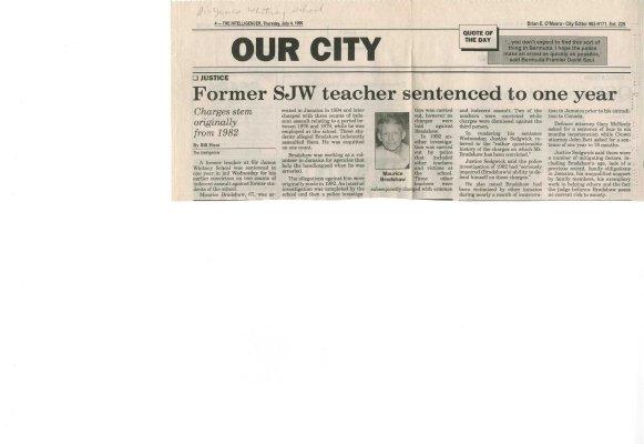 Former SJW teacher sentenced to one year