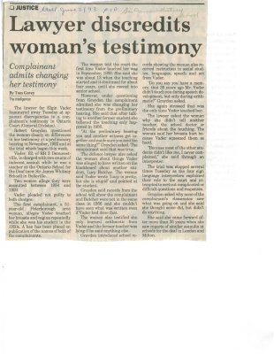 Lawyer discredits woman's testimony