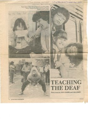 Teaching the deaf: photo essay