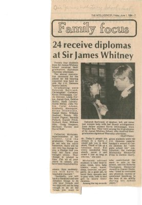 24 receive diplomas at Sir James Whitney