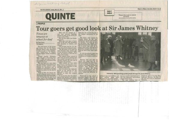 Tour goers get good look at Sir James Whitney