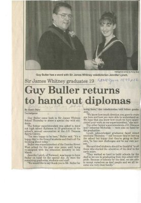 Guy Buller returns to hand out diplomas