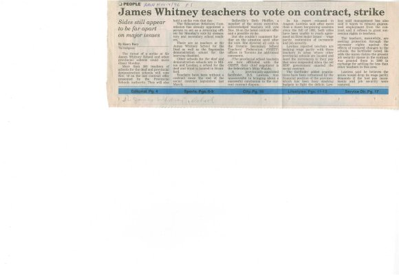 James Whitney teachers to vote on contract, strike