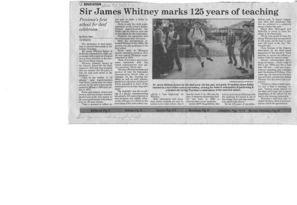 Sir James Whitney marks 125 years of teaching
