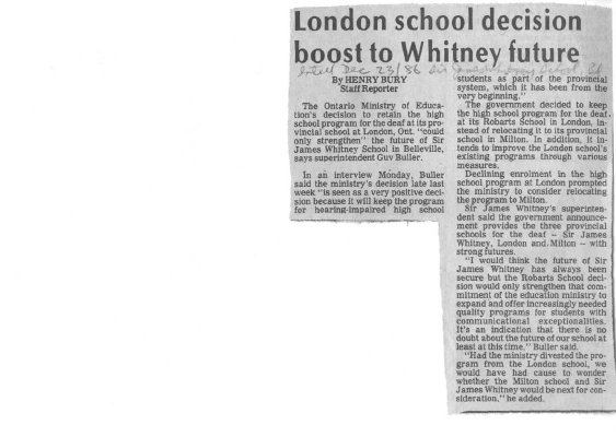 London school decision boost to Whitney future