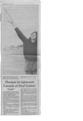 Thomas to represent Canada at Deaf Games