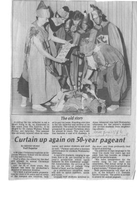 Curtain up again on 50-year pageant