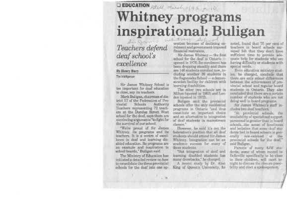 Whitney programs inspirational: Buligan