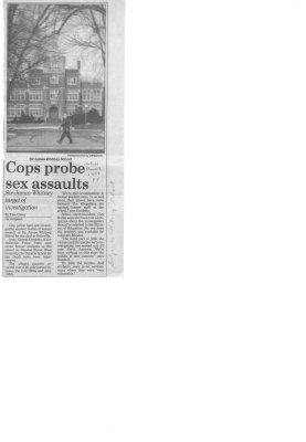 Cops probe sex assaults
