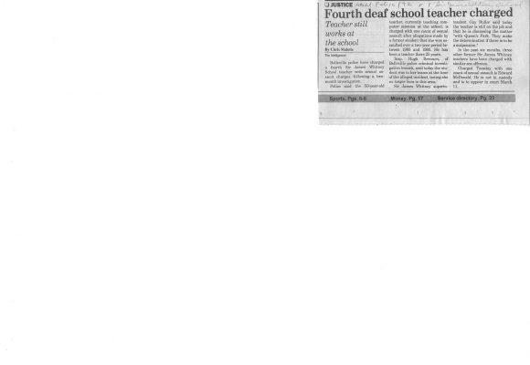 Fourth deaf school teacher charged