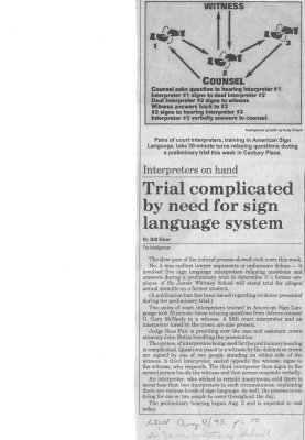 Trial complicated by need of sign language system