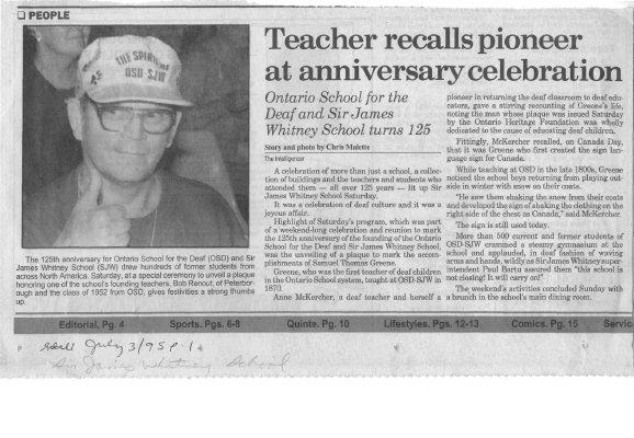 Teacher recalls pioneer at anniversary celebration